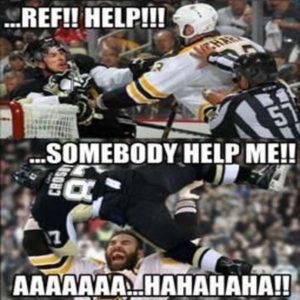 Not a fan of chara or Crosby but it is kinda funny