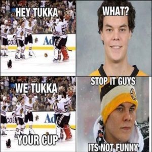 We Tuukka your cup It is SO DAMN funny!!!
