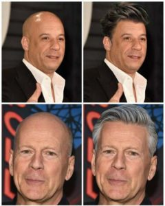 How Bald Celebrities Would Look If They Had Hair