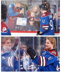 Landy meeting up with Gabe Landon again after 2 years. Gabe Landeskog Colorado Avalanche