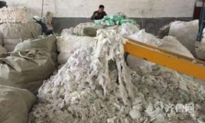 This Underground Chinese Factory Was Exposed for Recycling Old, Used Diapers to Make New Ones