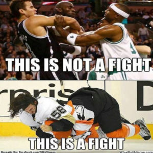 Whenever Sports Networks Talks About 'Fights' In Basketball