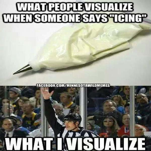 what people visualize when someone says;s icing