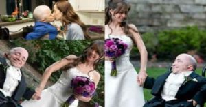 """2'8"""" Man Marries 'Normal-sized' Woman and Raises Eyebrows with Their Wedding Photos"""