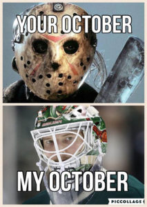 Duuubs gives another fan fav some tips on net minding in THE STATE OF HOCKEY !!