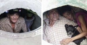 An Old Couple and Their Dog Lived in This Sewer for 22 Years and They Call it 'Home'