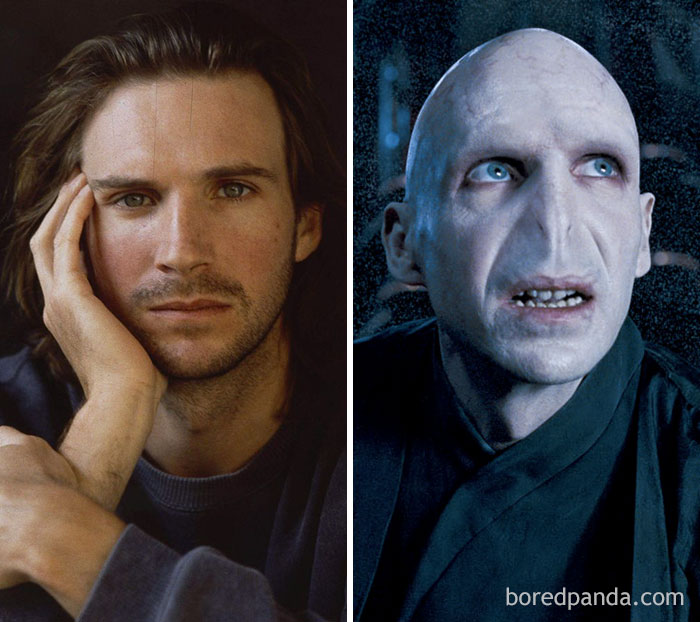 20 Incredible Pics Of Actors Before And After Applying Movie Makeup That Will Make You Look Twice