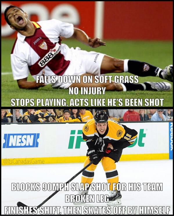 """Pro soccer player vs pro hockey player"