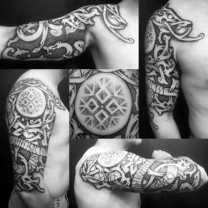 Viking tribal tatuajes Celtic tribal