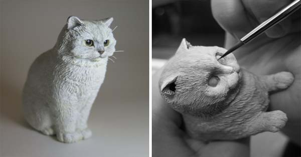 I Hand-Sculpt People's Cats To Immortalize Their Friendship
