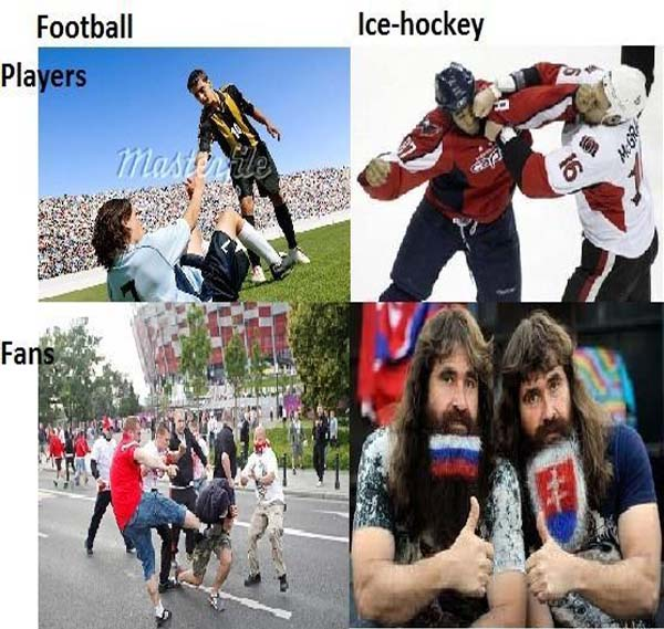 Football Vs Ice-Hockey