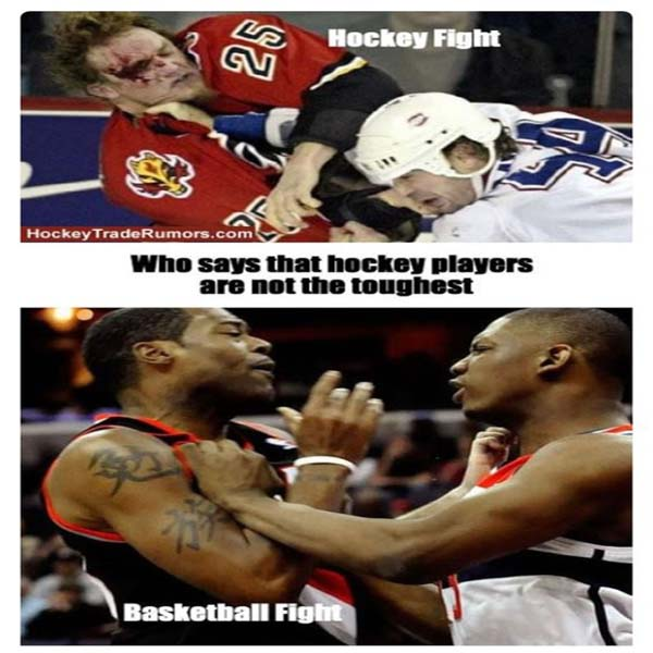 who says that hockey players are not the toughest