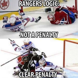 rangers logic  and not a penalty
