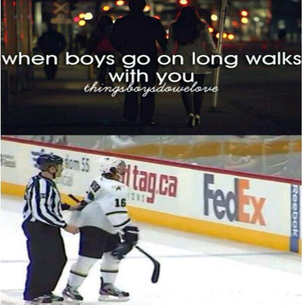 Long walks... To the penalty box