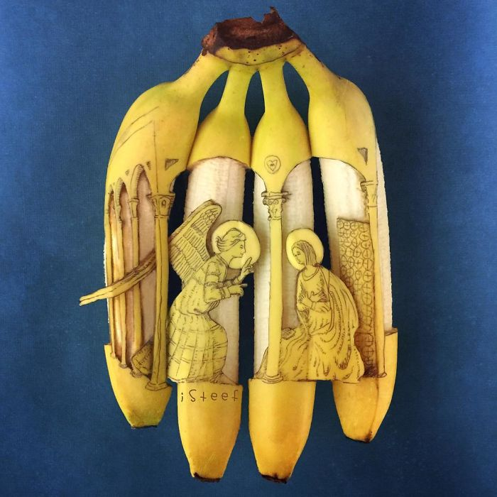 Artist Transforms Bananas Into Works Of Art, And The Result Is Surprisingly Good