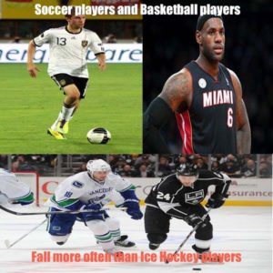 soccer players and basketball players