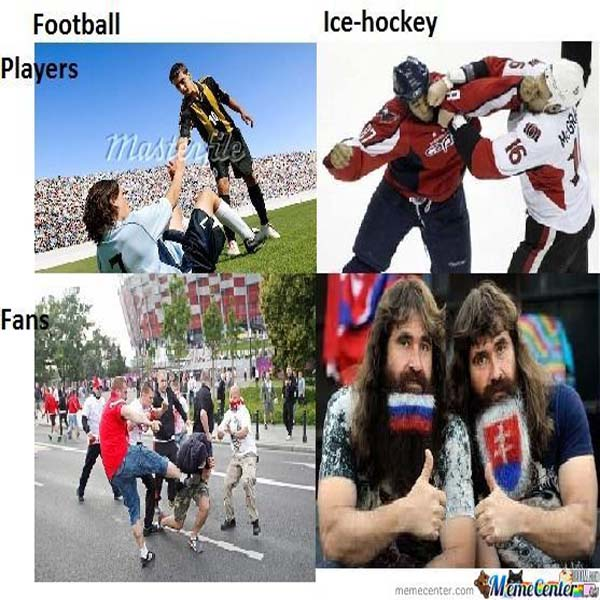 football vs ice hockey