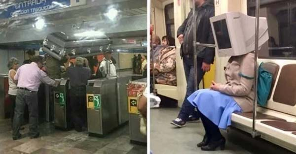 15 weird people, and a little crazy, you can find yourself in the subway